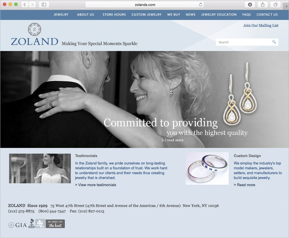 Zoland Website